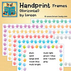 Handprints Horizontal Clip Art Frames for Classroom and Co