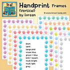 Handprints Vertical Clip Art Frames for Classroom and Comm