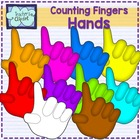 Hands Clipart {Counting 1-10}