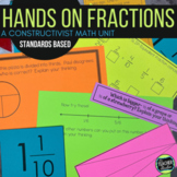 Hands On Common Core Fraction Unit:  Constructing Meaning