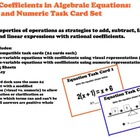Hands On Equations Task Cards Algebra Coefficients Practice