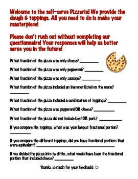 Hands-On Fractional Portions PIZZERIA!