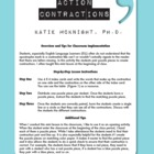 Hands On Grammar By Katie McKnight: Contractions