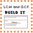 Hands On LCM GCF Build It! Least Common Multiple, Greatest