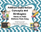 Hands-On Math Stations Made Easy: Addition and Subtraction