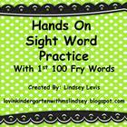 Hands On Sight Word Practice {1st 100 Fry Words}