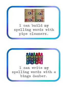 Hands-On Spelling Task Cards Center