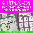 Hands On Two Digit Addition and Subtraction-Common Core Aligned