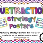 Hands-on and Mental Math Subtraction Strategies Posters
