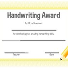 Handwriting Award