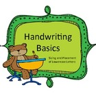 Handwriting Basics: Lowercase Letters Size and Placement
