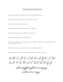 Handwriting Guidelines