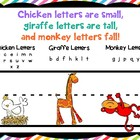 Handwriting Helper: Chicken, Monkey, and Giraffe Letters
