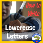 Handwriting - How to Form Lower Case Letters  Animated PowerPoint