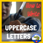 Handwriting - How to Form Upper Case Letters Animated PowerPoint