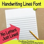 Handwriting Lines Font Freebie