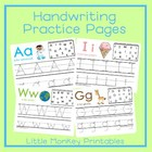 Handwriting Practice Pages ~ Preschool