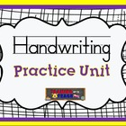 Handwriting Practice Unit