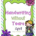 Handwriting Without Tears Spring Writing Paper: 25 pages R