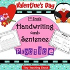 Handwriting and Sentence Practice- Valentine's Day