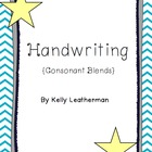 Handwriting with Consonant Blends {Pages & Cards}
