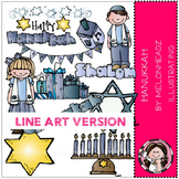 Hanukkah LINE ART bundle by melonheadz