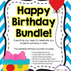 Happy Birthday Bundle - Complete Editable Kit for Celebrat
