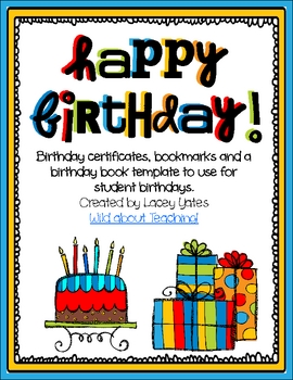 Happy Birthday!-Celebrating Birthdays in the Classroom