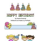 Happy Birthday Classroom Gift book