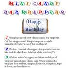 Happy Birthday Miniature Chocolate Candy Bar Wrappers
