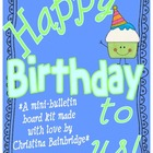 Happy Birthday to Us Mini Bulletin Board Set