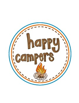 Happy Campers Expectations/Rules Posters