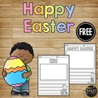 Happy Easter Writing Paper, Writing Center Kindergarten, F