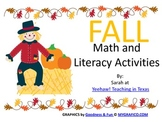 Happy FALL Math and Literacy Activities