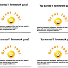Happy Face Homework Pass