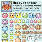 Happy Face Kids Borders Frames Clip Art {Free sample in Preview}