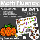 Happy Halloween! Numbers 0-9 Math Board Game