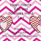 Happy Hearts-Real and Nonsense Word Sort