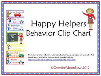 Happy Helpers Behavior Clip Chart