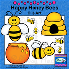 Happy Honey Bees Clip Art