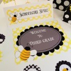 Happy Honeybee Door Sign Classroom Decor