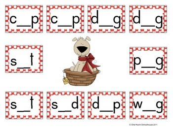 Happy Howl-a-Days!  Short Vowel Partner Games