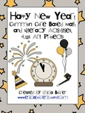 Happy New Year!  Common Core Based Math and Literacy Activities
