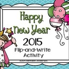 Happy New Year Flip-and-Write FREEBIE: Resolution/Goal Activity