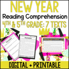 Happy New Year Literacy Pack: Common Core Activities and P