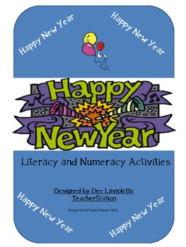 Happy New Year Literacy and Math Activities