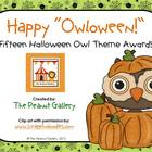Happy &quot;Owloween&quot; Awards (Halloween Owl Theme Awards)