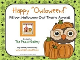"Happy ""Owloween"" Awards (Halloween Owl Theme Awards)"