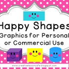 Happy Shapes Graphics for Personal or Commercial Use