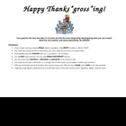 Happy ThanksGROSSing!